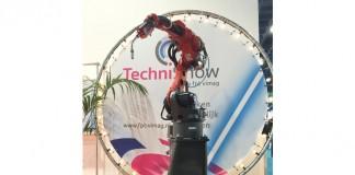 De design sokkel onder deze lasrobot is door Valk Welding 3D opgelast met de lasrobot