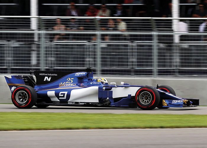 Sauber F1 Additive Industries