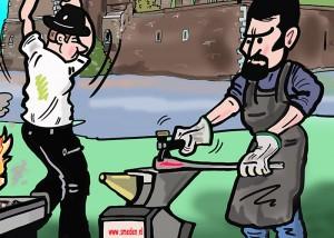 Smeden helpen mee met herbouw eeuwenoud kasteel