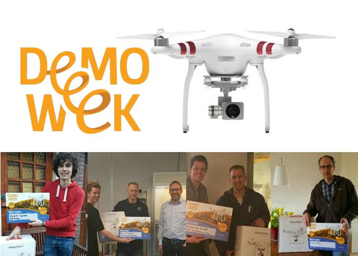 De winnaars van de Demoweek actie tijdens de TechniShow