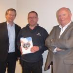 Van links naar rechts: Ronald Baarslag, Erwin Lapien en Hans van den Bersselaar.