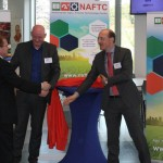 Officiële lancering van de Vereniging NAFTC. V.l.n.r. Henk van Duijn (vice-voorzitter NAFTC), Marcel van (directeur GMV) en Marinus Overheul (trekker internationaal topsector Agr & Food).