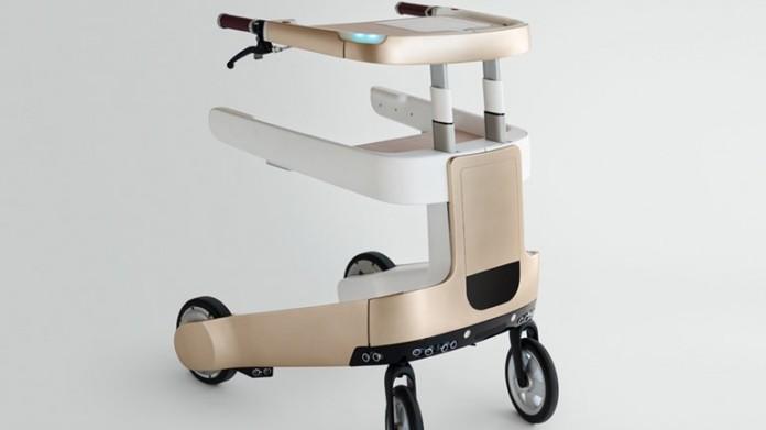 De hightech zorgrobot LEA (Lean Elderly Assistant) ziet eruit als een rollator en kan autonoom zonder mens bewegen in een vooraf geprogrammeerde ruimte.