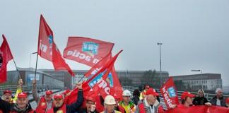Grote manifestatie bij Tata Steel