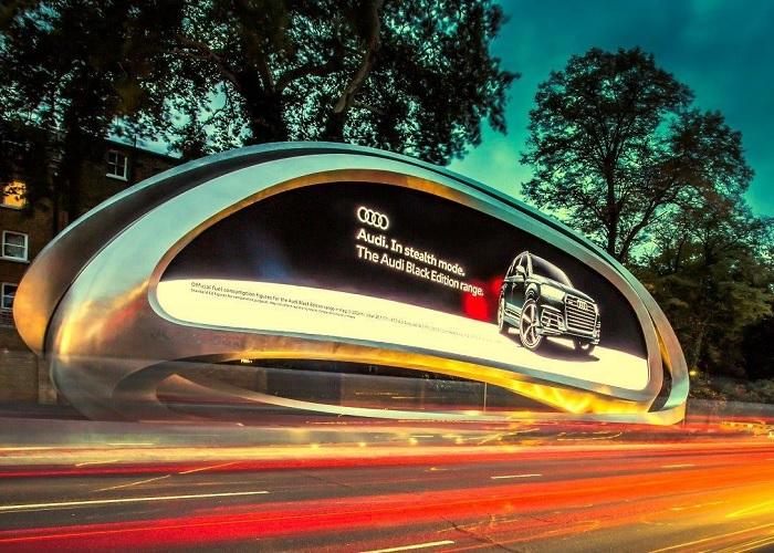 MetalFinish, geslepen billboard