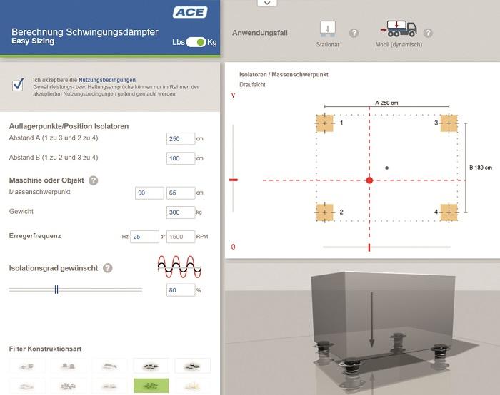 Online calculatietool voor trillingsdemping