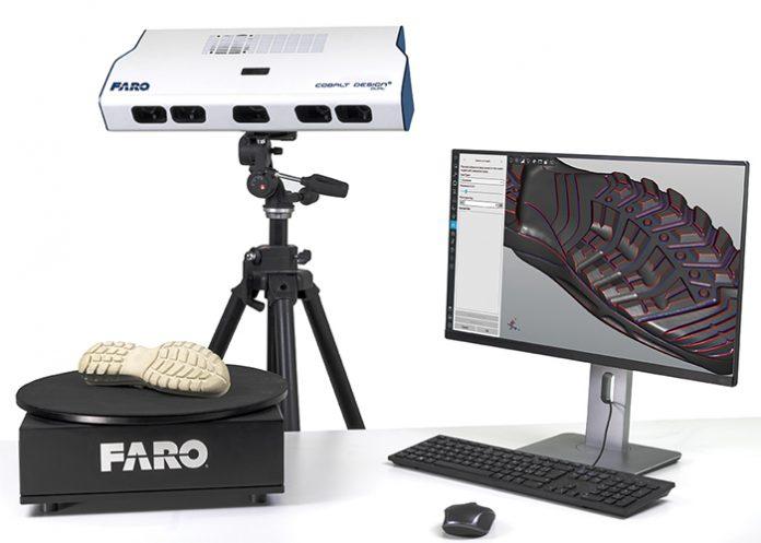 3D-scanner op basis van gestructureerd licht voor industriële ontwerpprofessionals