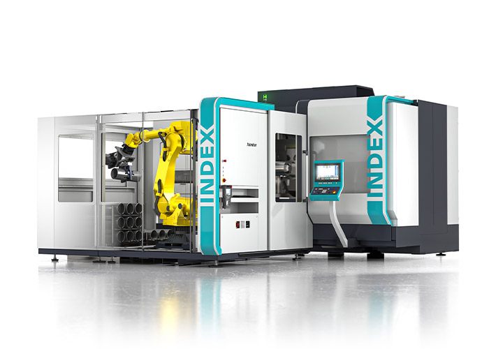 Index biedt de robotcel iXcenter nu ook aan bij de grote draaiautomaten van de G-serie. Tijdens het open huis wordt zo'n cel gepresenteerd aan de nieuwe G400.