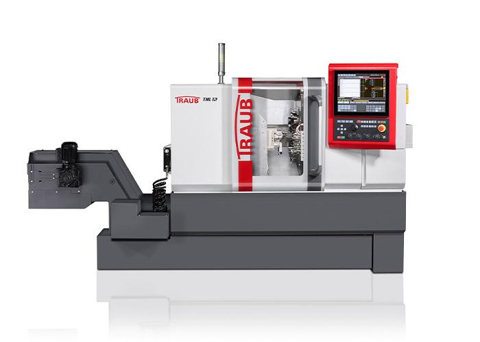 De nieuwe langdraaiautomaat Traub TNL12 heeft een compactere bouw met verbeterde kinematica ten opzichte van zijn voorganger. Dat geeft duidelijke productiviteitsverbeteringen bij kleine precisie-draaidelen.