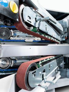 De SBM L1500 heeft van boven en onder dezelfde aggregaten. De eerste koppen kunnen eventuele bramen aan de boven en/of onderkant wegschuren.