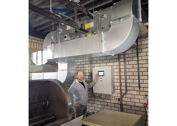 De temperatuur in de meetkamer wordt geregeld door de speciaal voor Assmann ontworpen installatie.