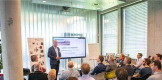Een informatiebijeenkomst van de FDP bij Merford. De thema's zijn in de loop der jaren veranderd, maar het toegankelijk maken van kennis in de hele plaatwerkketen staat nog steeds centraal.