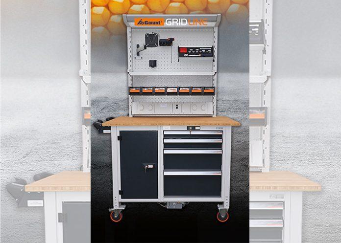 De wielen onder de werkbank hebben een diameter van 125 mm, wat ook voor hobbelige ondergronden ideaal is.