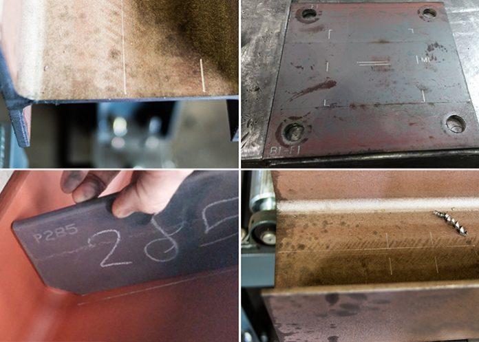 Handmatig meten en aftekenen/krassen hoeft niet meer door maatvoering informatie van het 3D CAD model direct via een CNC machine te laten scriben door middel van (deel)lijnen of centerpunten.