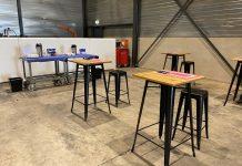 De pauzes worden gehouden in de productieruimte in plaats van in de kantine.