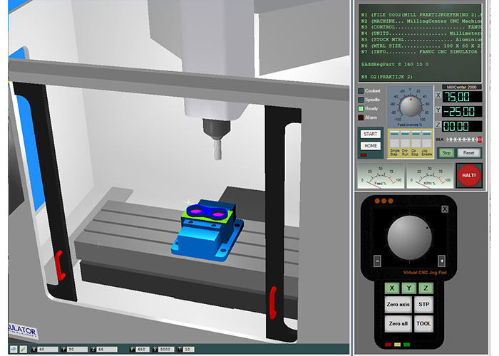 Fanuc 3D CNC Simulator Pro frezen.