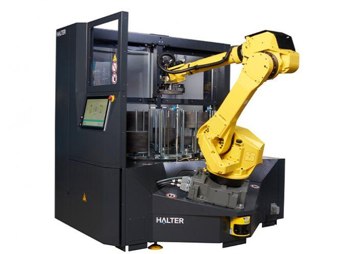 De TurnStacker BIG 70. Afhankelijk van het werkstukgewicht kan de robot één werkstuk van 50 kilogram handlen of twee van 25 kilogram.