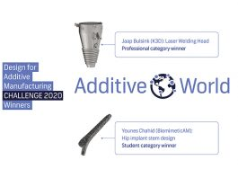De winnende producten: een laserlaskop en een herontwerp van de steel van een heupimplantaat.