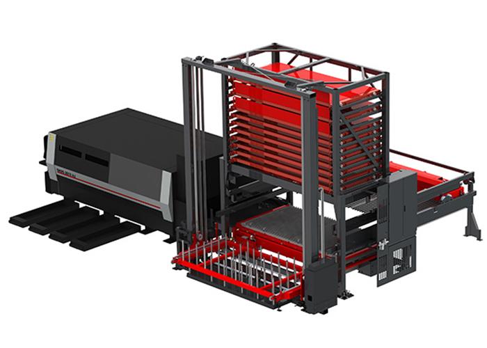 Nog een voorbeeld van automatiseringsoplossingen voor Amada pons- en lasersnijmachines.