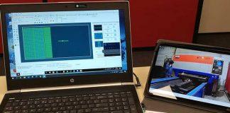 Dankzij de simpele beveiligingscamera op de machine bij Staalidee en TeamViewer op zijn eigen laptop, kan Harry Vernooy van MoVer training en instructies geven vanaf zijn eigen werkplek in Nieuwegein.