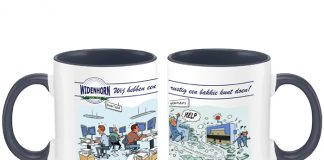Ieder bedrijf krijgt bij zijn eerste bestelling van snijonderdelen in april een koffiemok cadeau.