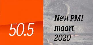 De Nevi PMI van maart was met 50.5 flink lager dan het cijfer van 52.9 van februari.