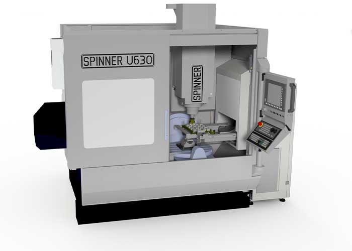 De U-Loader is beschikbaar op de Spinner U630 en U1530 bewerkingscentra.