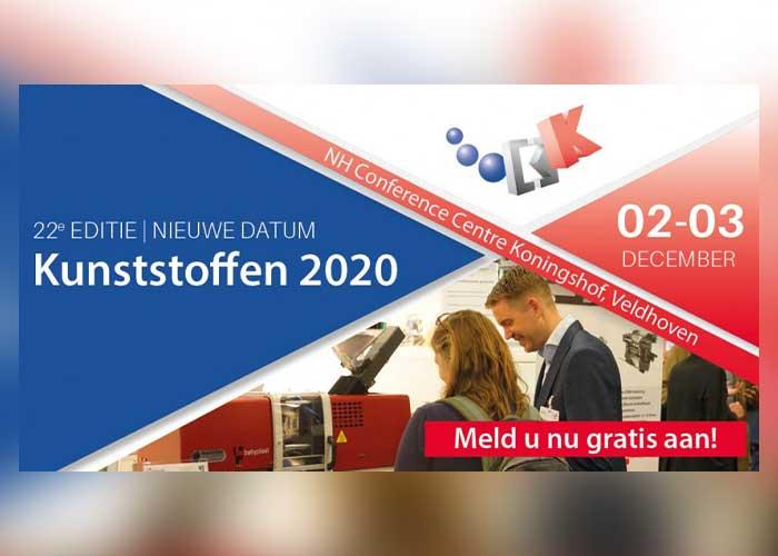 De vakbeurs Kunststoffen 2020 wordt verplaatst van september naar 2 en 3 december 2020.