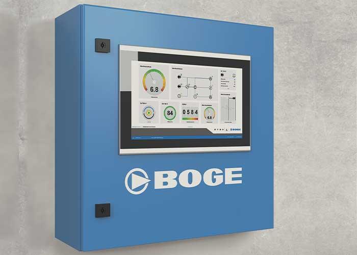 De intelligente besturing airtelligence provis 3 verbindt de gegevens van een onbeperkt aantal compressoren en componenten met elkaar.