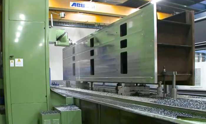 De eigen verspanende afdeling, Bauhuis Industrial Partner, legt zich met name toe op het nauwkeurig bewerken van grote onderdelen.