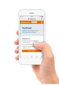 Toolscout is een intelligente service om het juiste gereedschap te zoeken. Je geeft in welk materiaal en welke diepte je moet boren en Toolscout geeft je de beste opties daarvoor.