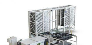 MOVit TAS is een opslagsysteem met enkelvoudige of dubbele toren, dat in maximaal twee lasersnijmachines kan worden geïntegreerd.