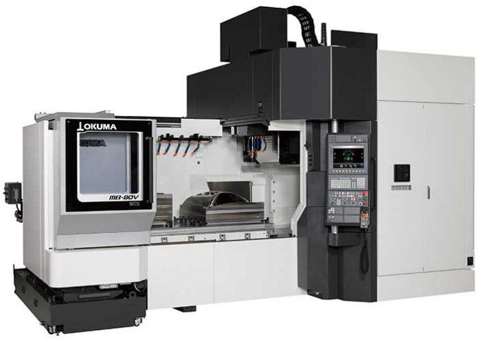 De MB-80V heeft een werkruimte met tafelafmetingen van 1600x800 mm en een X, Y, Z-bereik van 1600x1050x600 mm.
