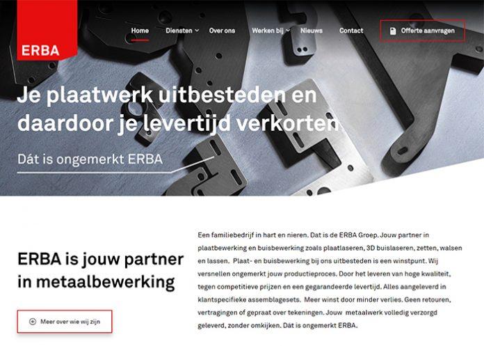De ERBA Groep bestaat uit vier onderdelen die allemaal gespecialiseerd zijn in metaalbewerking.