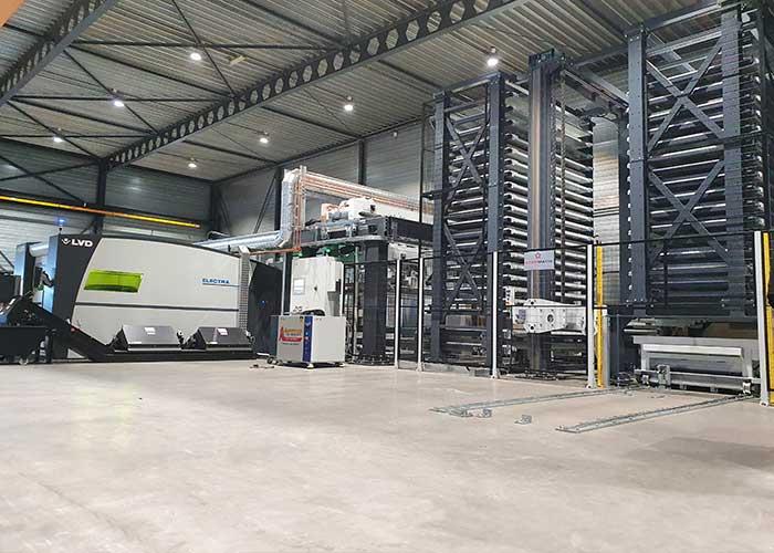 Met de komst van de LVD Electra lasersnijmachine (10 kW vermogen) en het Starmatik platenmagazijn, is de snijcapaciteit verdubbeld.
