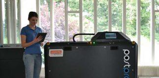 De PostPro3D machine in de speciale demonstratieruimte van Leering Hengelo.