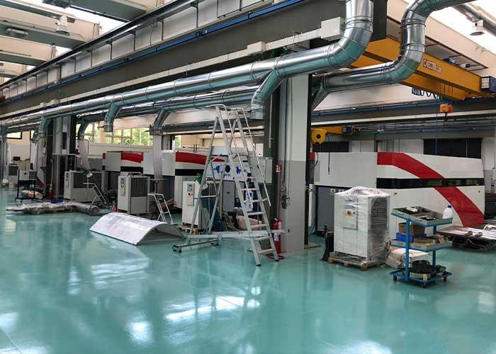 De moderne productielocatie van Cutlite Penta in Florence.