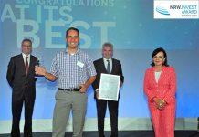 COO Frank Gelen nam de NRW.Invest Award voor 247TailorSteel in ontvangst.