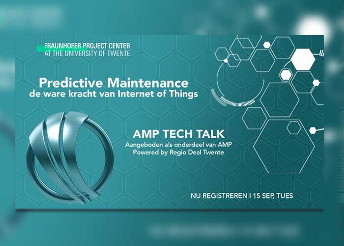 De eerste webinar van Fraunhofer Project Center vindt plaats op dinsdag 22 september om 10:30 uur en gaat over Predictive Maintenance.