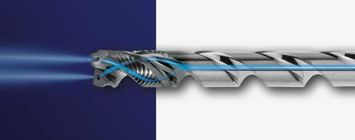 De GARANT Master Steel DEEP combineert de voordelen van een centrale en spiraalvormige inwendige koeling.