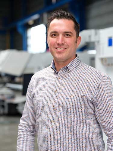 """Stefan Brekveld, teamleider Resale Center: """"We leveren machines waarmee de nieuwe eigenaar jaren vooruit kan en die compleet onder de Trumpf vlag vallen voor service en onderhoud."""""""