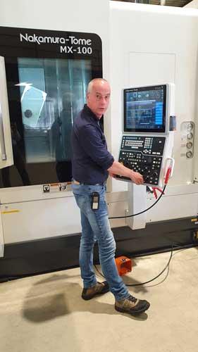 """Lucien Heemskerk heeft het multitasking bewerkingscentrum Nakamura Tome MX-100 uitgerust met BIG Capto C4 gereedschaphouders. """"Goede gereedschaphouders zorgen voor stabiliteit en langere standtijden van je gereedschappen."""""""