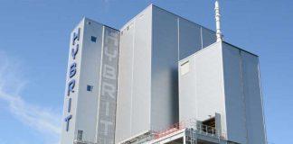 In de proeffabriek HYBRIT (Hydrogen Breakthrough Ironmaking Technology) wordt staal geproduceerd op basis van waterstof.