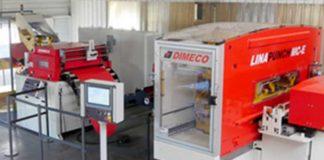 In de showroom demonstreert Dimeco diverse productielijnen voor ponsen, snijden en rolvormen vanaf coil.