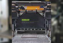 De PeakPerformer richtmachine van Kohler zal wordt ingezet om platen die nog niet de gewenste vlakheid hebben na te richten.