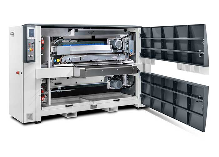Afhankelijk van de eisen van de klant, kan de installatie met de betreffende gereedschappen worden geconfigureerd.
