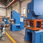 Belttech heeft een 70 jaar oude excenterpers bij Greif vervangen door een moderne 50 tons Sangiacomo pers.