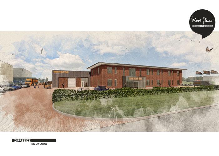 Het ontwerp voor de nieuwbouw van DICTATOR is gemaakt door Korfker Architecten uit Emmeloord.