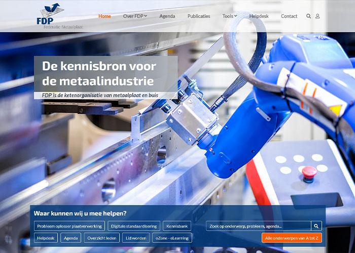 De FDP-website is gemoderniseerd en uitgebreid. Nieuw is onder meer de Probleem oplosser plaatverwerking.