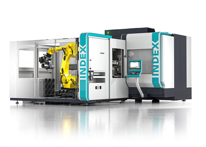 De nieuwe iXcenter robotcel is nu ook geschikt voor het automatiseren van grotere bewerkingscentra, zoals de nieuwe G400.